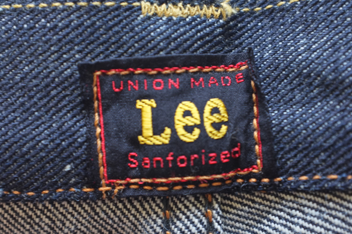Lee waistband label