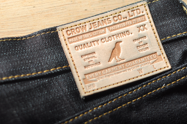 Crow jeans leather patch