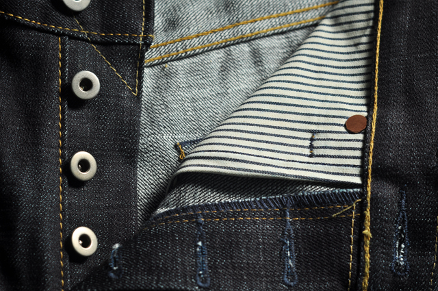 Crow jeans detail hickory lining