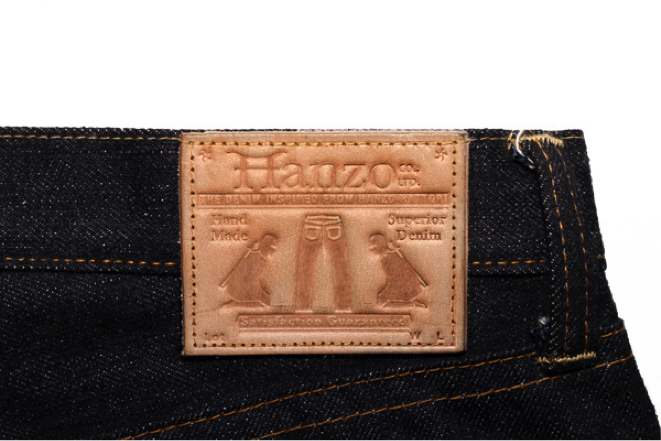 Hanzo Jeans Leather patch