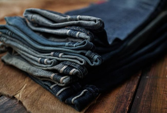 Stacked worn denim, Photo by Oldblue Co.